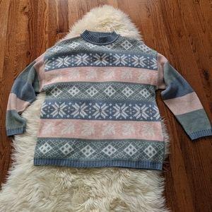 Vintage women's fairy Kei pastel knit sweater 90s